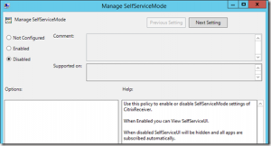 you can even disable the selfservice ui if you only want the users to access applications via the start menu
