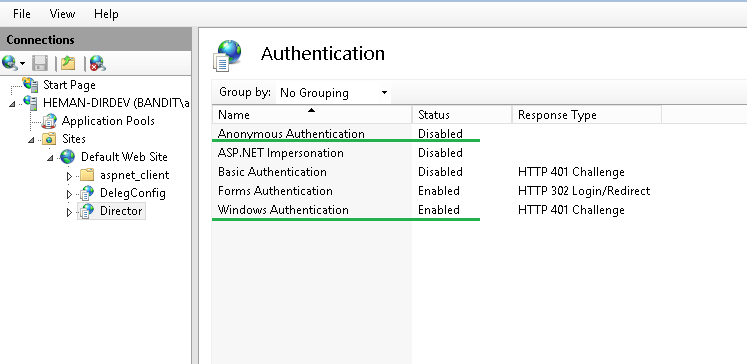 Using Integrated Windows Authentication to Log Into Director