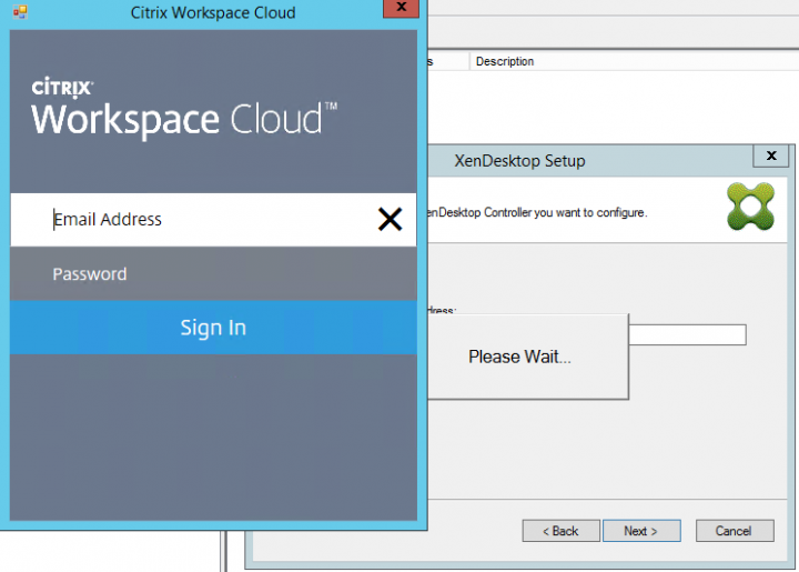 Figure 5 Citrix Workspace Cloud Authentication