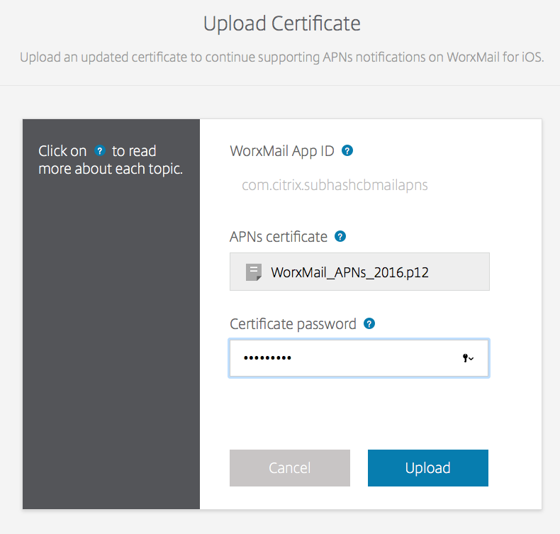 Update Apple Push Services Certificate for WorxMail   Citrix Blogs