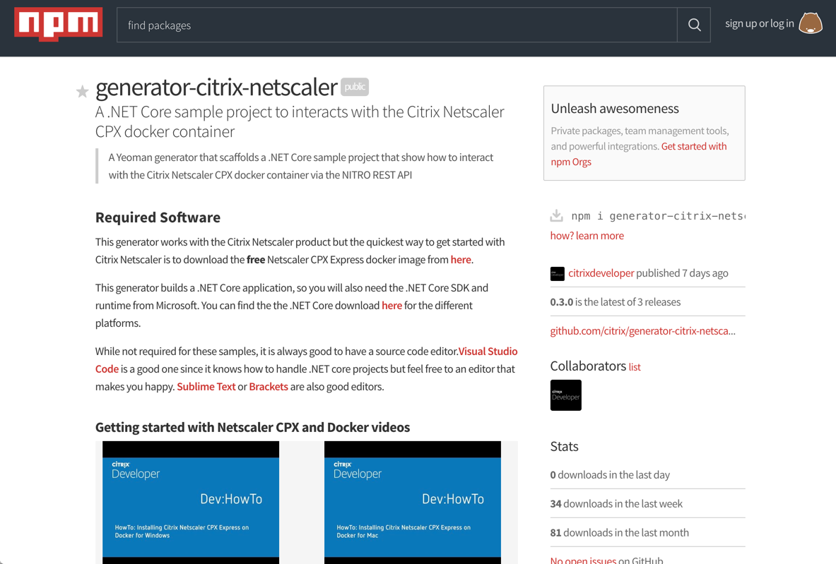 Citrix Developer Yeomen-Netscaler