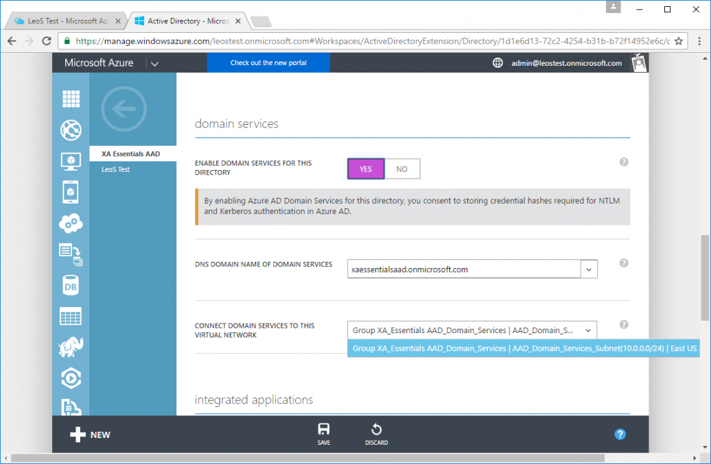 XenApp & XenDesktop Services Support Azure AD Domain