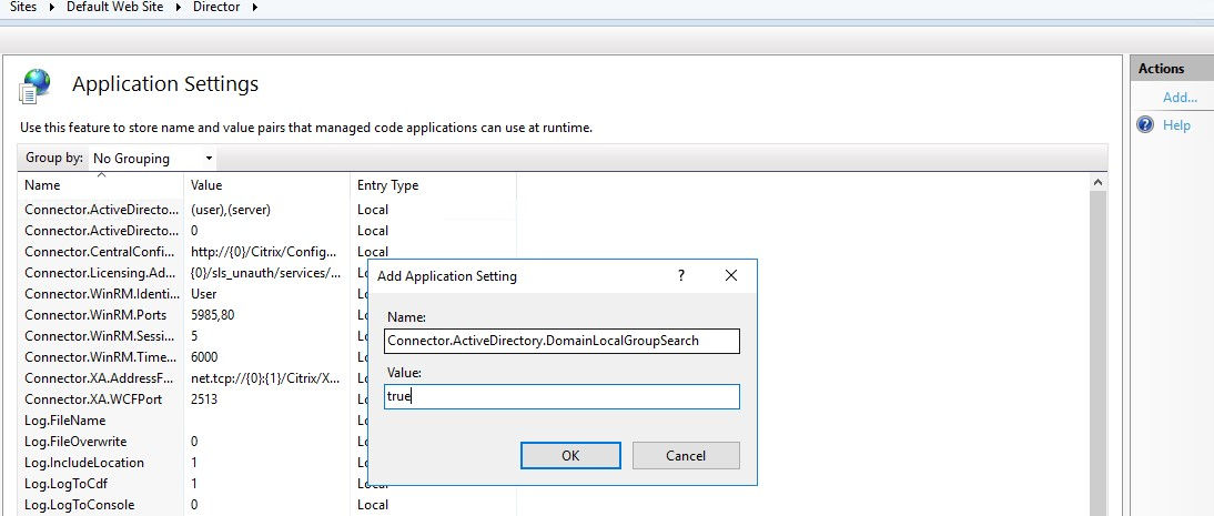 Citrix Director Supports Domain local groups in XenApp & XenDesktop