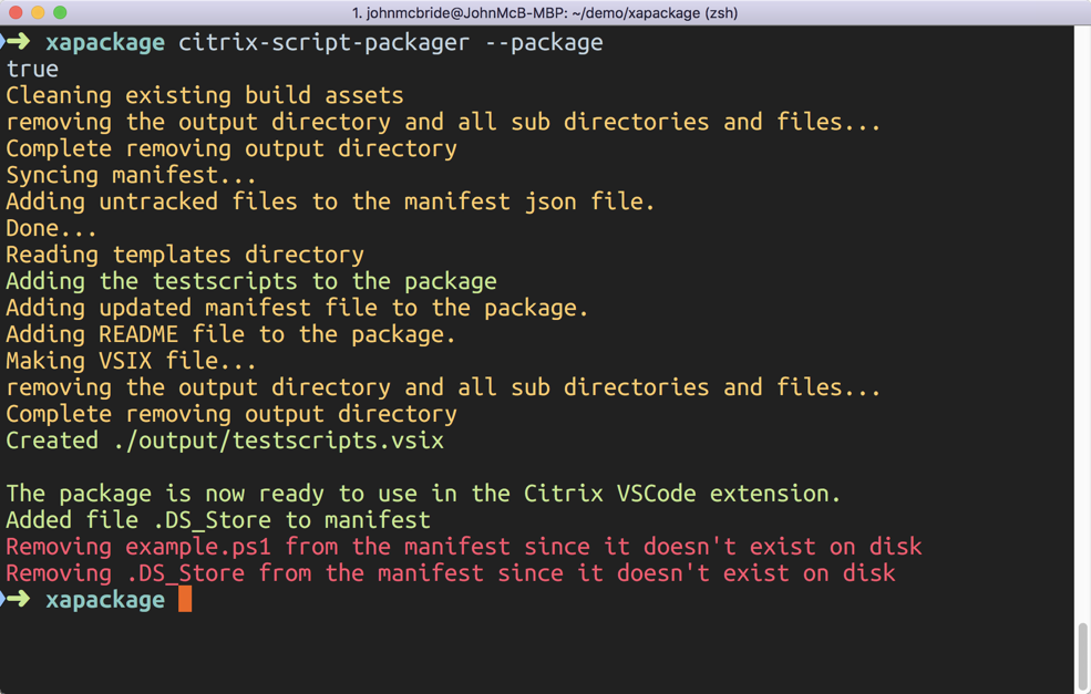 Scripts, scripts and more scripts! Package & deploy with Visual