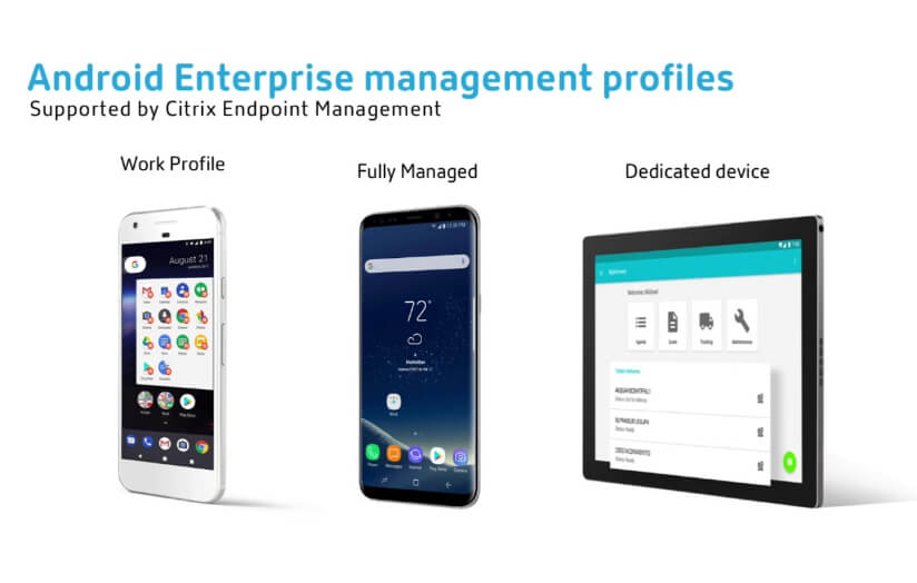 Citrix Endpoint Management and Android Enterprise
