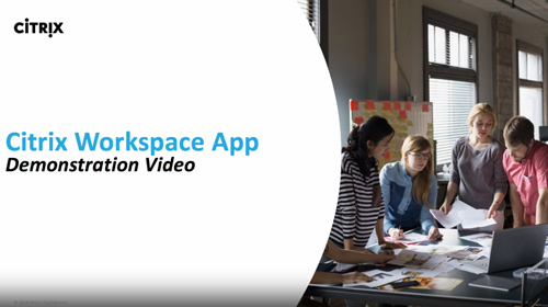 Workspace User Demo