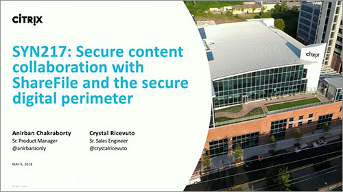 Citrix Synergy TV - SYN217 - Secure content collaboration...